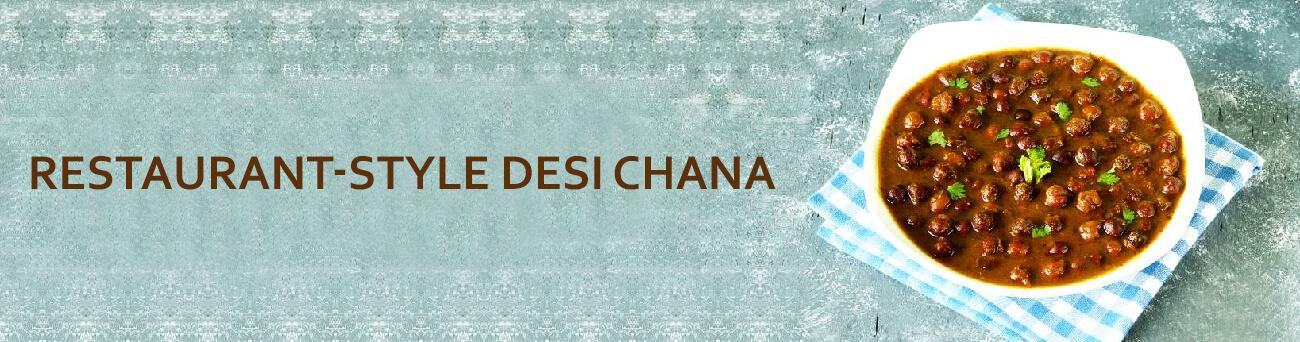 Restaurant-style Desi Chana